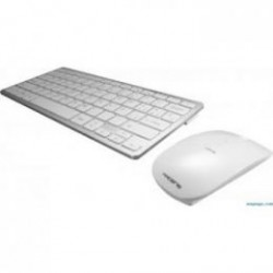 TECLADO + RATON TACENS WIRELESS BLANCO-PLATA