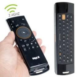 MANDO + TECLADO WIRELESS PARA TV ANDROID MELE F10 - NEGRO