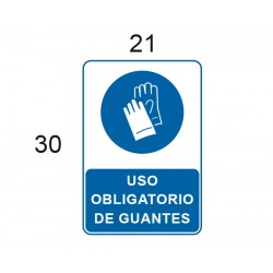 ADHESIVO USO OBLIGATORIO DE GUANTES