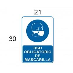 ADHESIVO USO OBLIGATORIO DE MASCARILLA